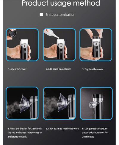 Ręczny ultradźwiękowy, atomzier nebulizator.