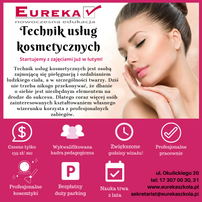 Technik usług kosmetycznych - zapraszamy do zapisu