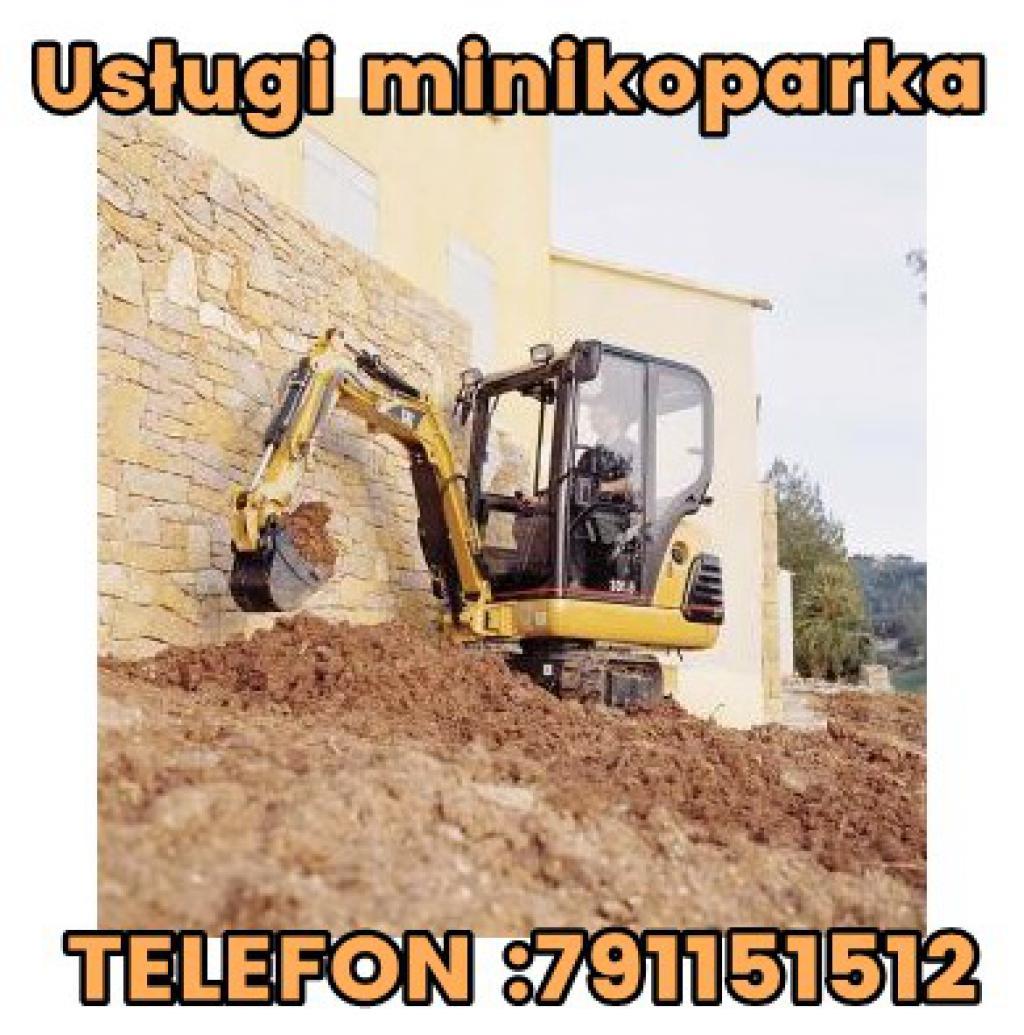 Usługi minikoparką Łańcut,Rzeszów,Przeworsk